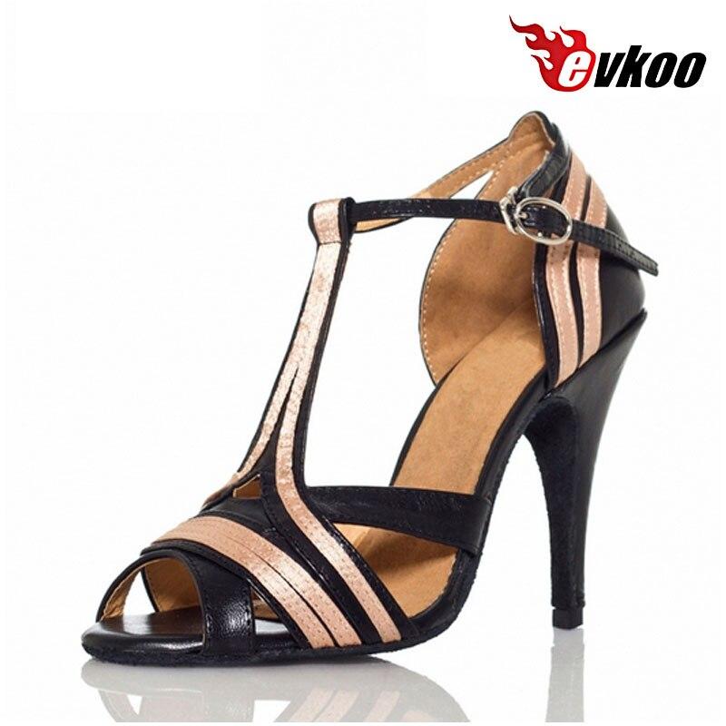 US $24.9 50% OFF|Evkoodance vrouwen Zachte zool Latin Dansschoenen Salsa 7.3 cm 10 cm Samba Tango Schoenen Dansen Schoenen Voor Vrouwen evkoo 450 in