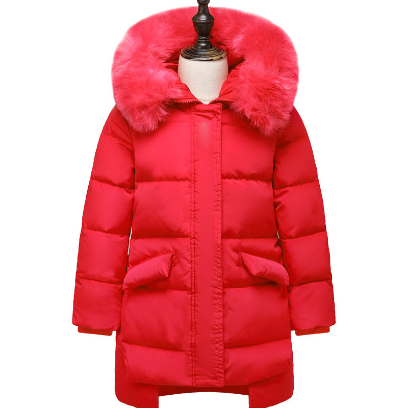 купить New Down Jacket Girls In The Long Section of Baby Children 2018 Children Thickening Jacket недорого