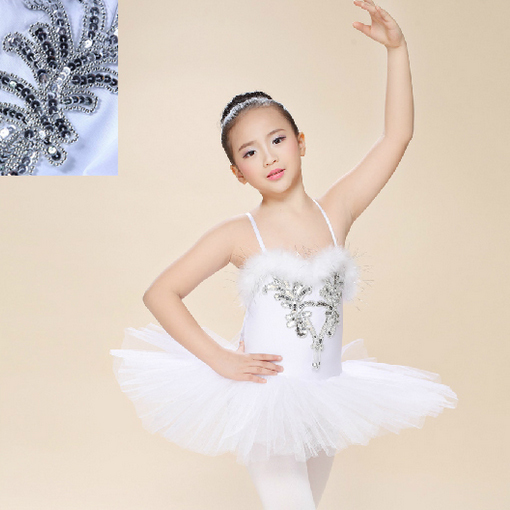 New Kids Girls Ballerina Dress White Swan Lake Ballet Costumes Children Strap Dance Wear Costume Danse Classique Enfant