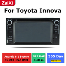ZaiXi android car dvd gps multimedia player For Toyota Innova 2004~2015 car dvd navigation radio video audio yessun for toyota prado 120 2004 2009 android car gps navigation dvd player multimedia audio video radio multi touch screen