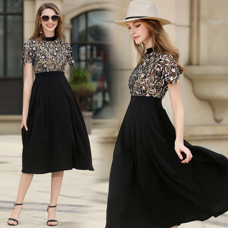 Beauty-Emily Vintage Chiffon Simple Evening Dress Boat Neck Cocktail Formal Swing Dress Special Occasion Dresses Robe De Soiree