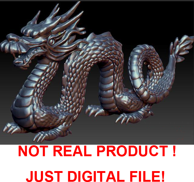 Dragon 3D Model In STL File Sculpture For CNC And Printer