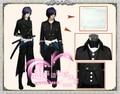 NEW Hakuouki  Saitou Hajime  full set  Japan Anime Cosplay Costumes & Accessories Free Shipping