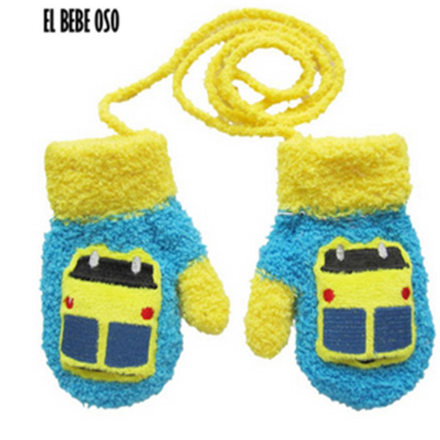 864e7586e ELBEBEOSO Cartoon Thicken Warm Fleece Infant Baby Boys Girls Winter ...