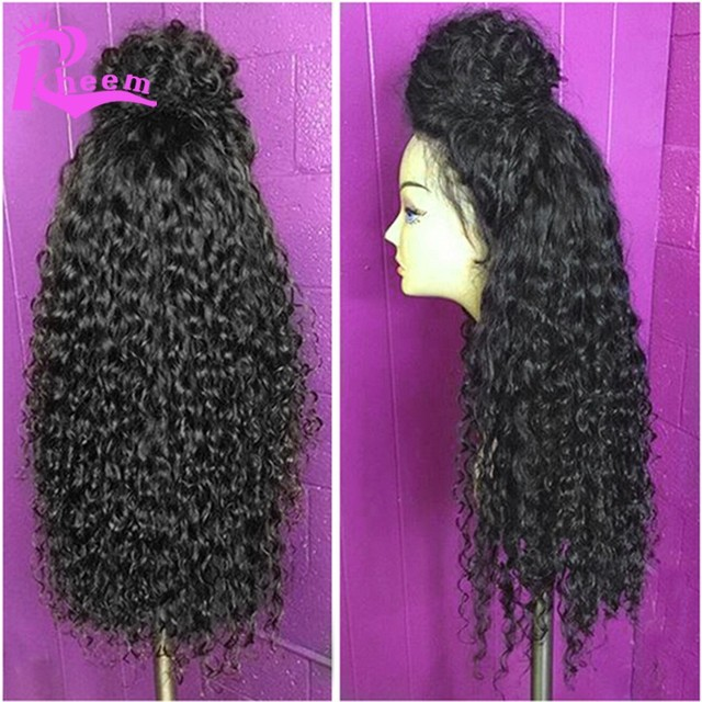 180 Density Full Lace Wig Kinky Curly Brazilian Full Lace Human Hair Wigs For Black Women Virgin Hair Lace Front Wigs Glueless
