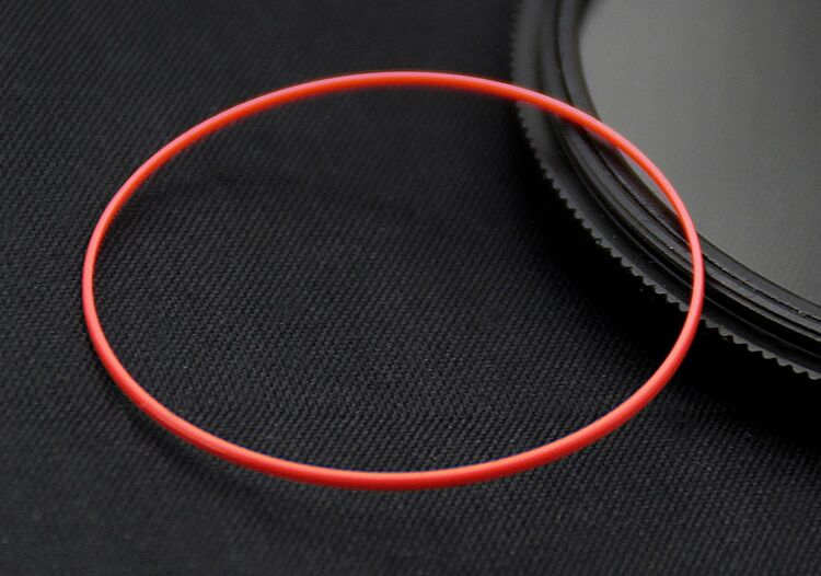 Free Shipping 1 Set Good Quality 0.5/0.6mm Thick Red I Ring for Watch Back Case