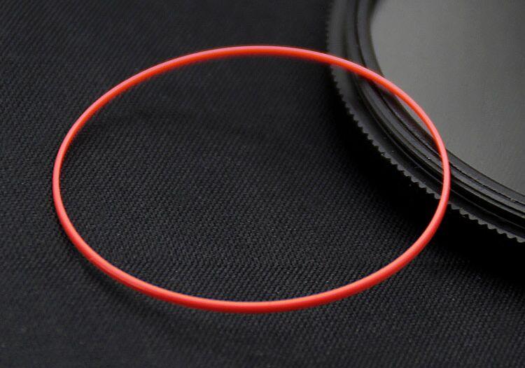 Livraison Gratuite 1 set Bonne Qualité 0.5mm Épais Rouge Je Anneau pour Suivre Retour Case