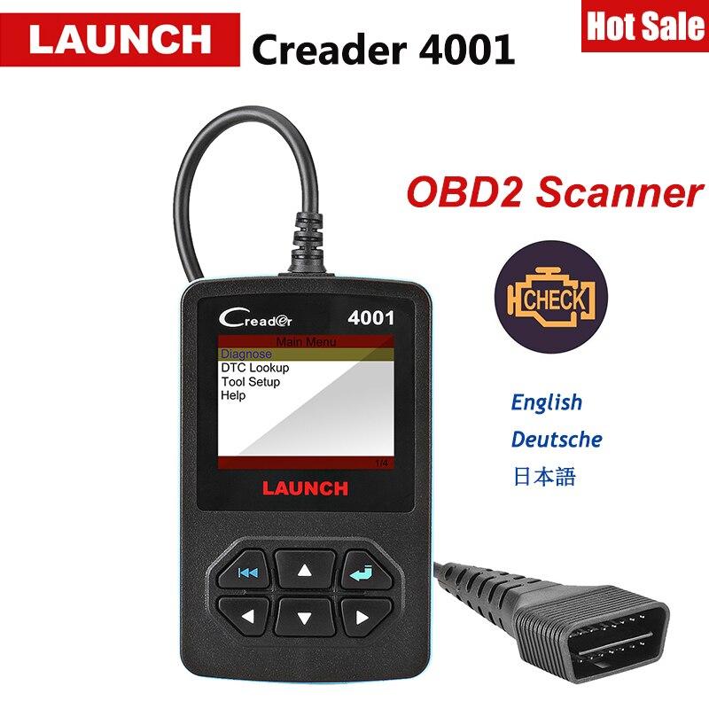 Carro Leitor de Código de lançamento CReader 4001 Scanner OBD OBD2 DIY CR4001 OBDII Ferramenta De Diagnóstico Atualização Gratuita X431 Creader V + como Autel AL319