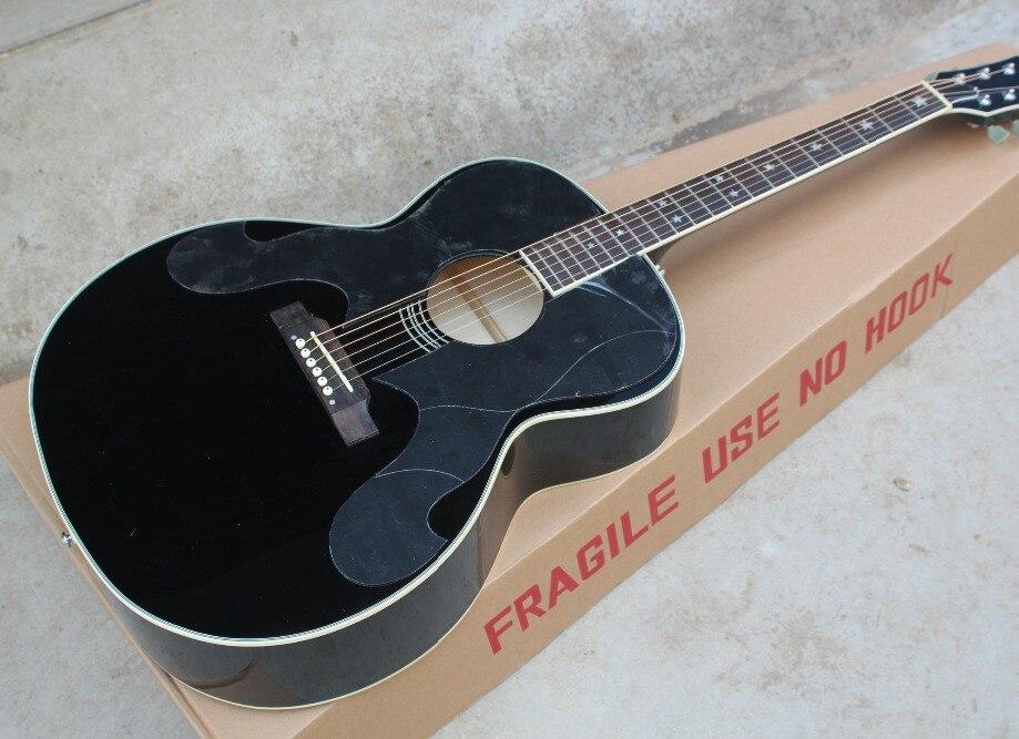 buy 2018 new factory chibson g180 acoustic guitar black billie joe g180. Black Bedroom Furniture Sets. Home Design Ideas