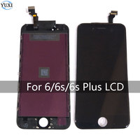 YuXi No Dead Pixel LCD Display for iPhone 6 6s Plus Black White Touch Screen Digitizer Replacement Assembly with tools