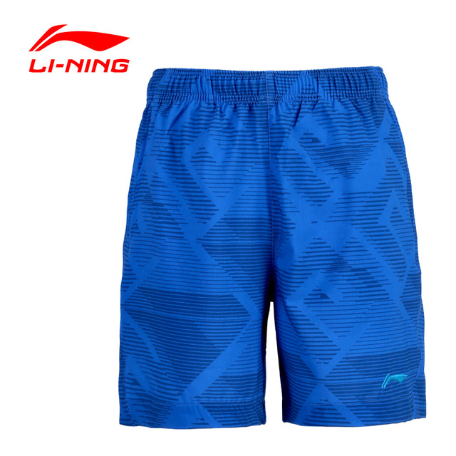 LI-NING Men Badminton Series Shorts Quick Dry Flexible Breathable 86% Polyester Fiber Sport Shorts LINING AKSK343 FREE SHIPPING