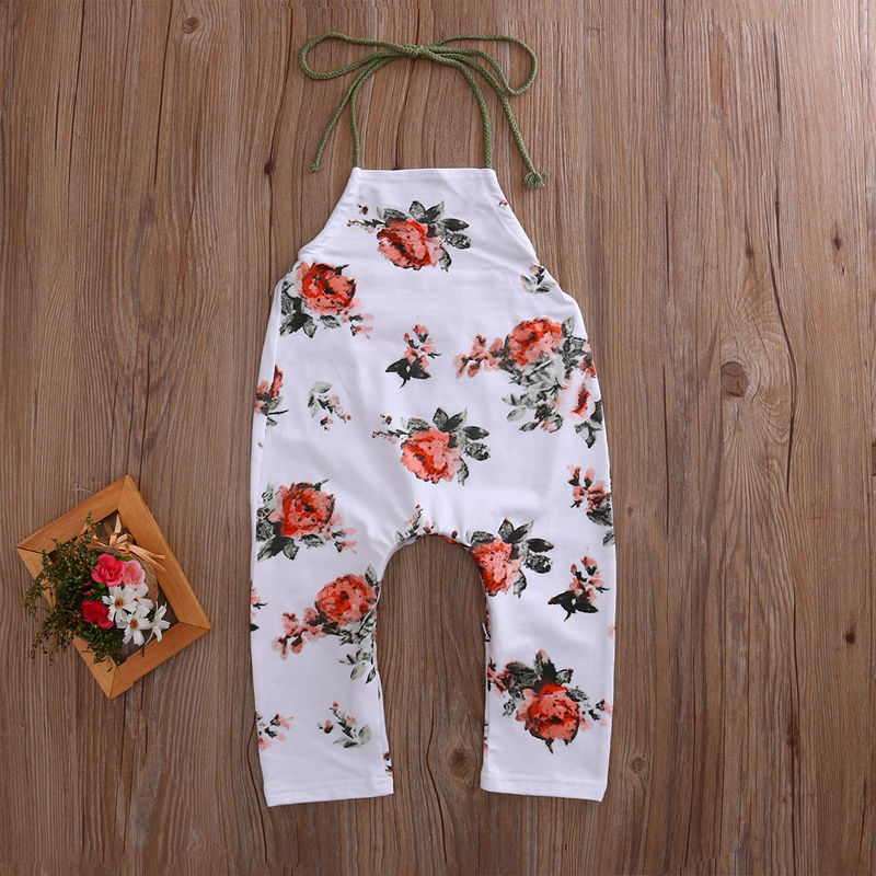 Newborn Infant Baby Boys Girls Floral Tiered Romper Outfit Sunsuit baby girl clothes New 2016 princess newborn baby girl clothes infant body suits floral romper