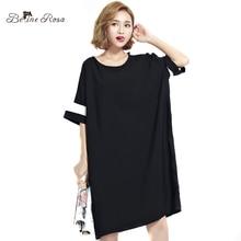Belinerosa 2017 плюс размер туника футболка женский краткое стиль с коротким рукавом рубашки случайным dress женщины tyw00369