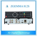 20pcs/lot Full Channels Software Supported Zgemma H.2S Satellite Receiver With Dual Core Linux OS Enigma2 DVB-S2+S2 Twin Tuners