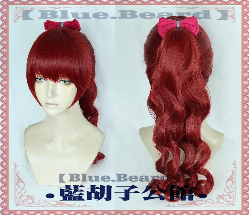 Persona 5 P5R Yoshizawa Kasumi Cosplay Hair Dark Red Base Wig Pigtail Halloween Role Play New Character