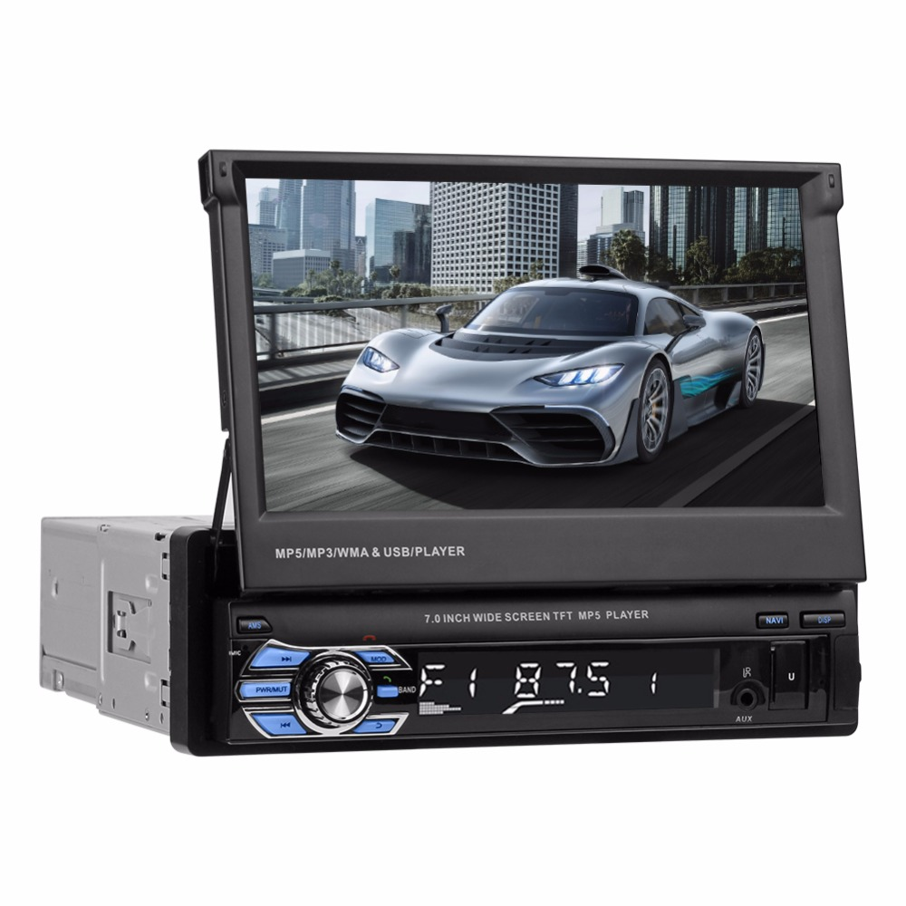 SWM 9601G Upgraded 7in 2din Touch Screen Car Stereo MP5 Player GPS Navi RDS AM FM