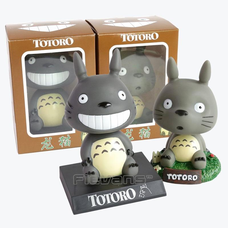 Cute Cartoon My Neighbor Totoro Bobble Head PVC Action Figure Collectible Model Toy 2 Styles 12cm