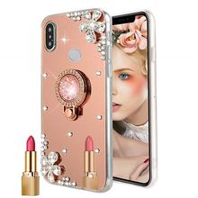 Mirror clear Ring Phone Case Cover For Huawei Nova 3 P Smart 2019 P10 + P20 lite P30 Mate 10 Pro 8X Honor 9 10 lite Y5 Y7 2018(China)