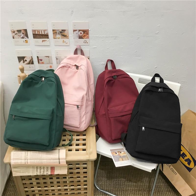 2019 Backpack Women Backpack Solid Color Women Shoulder Bag Fashion School Bag For Teenage Girl Children Innrech Market.com