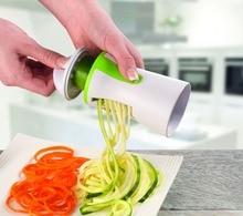 Gemüse Spiralizer, neueste 2016 Premium Sicherheit 2-blatt Design, Handheld Kompakte Veggie Spiralschneider