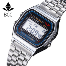 Fashion Digital Watches 2018 New Casual Gold Silver Stainless LED Wristwatch Women Men Watches Top Brand Luxury Relogio Clock