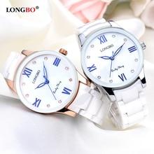 LONGBO Luxury Brand Womens Watches Quartz Ceramic Lady Relojes Mujer Women Wristwatch Relogio Feminino zegarek damski
