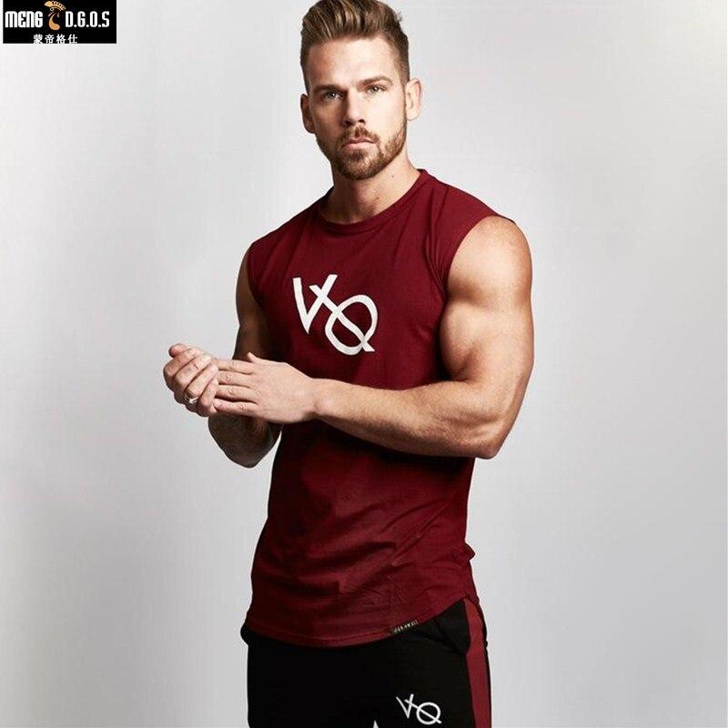 2018 Autumn Fitness Men Tank Top Mens Bodybuilding Stringers GYMS Tank Tops Singlet Brand Clothing Sleeveless Shirt men singlets
