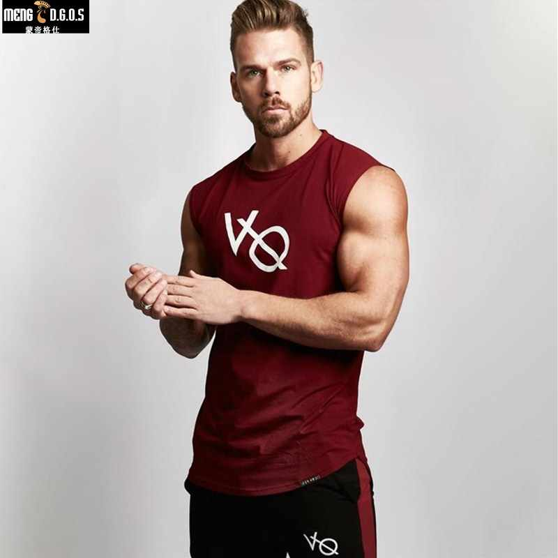 7166b88dcdbac 2018 Autumn Fitness Men Tank Top Mens Bodybuilding Stringers GYMS Tank Tops  Singlet Brand Clothing Sleeveless