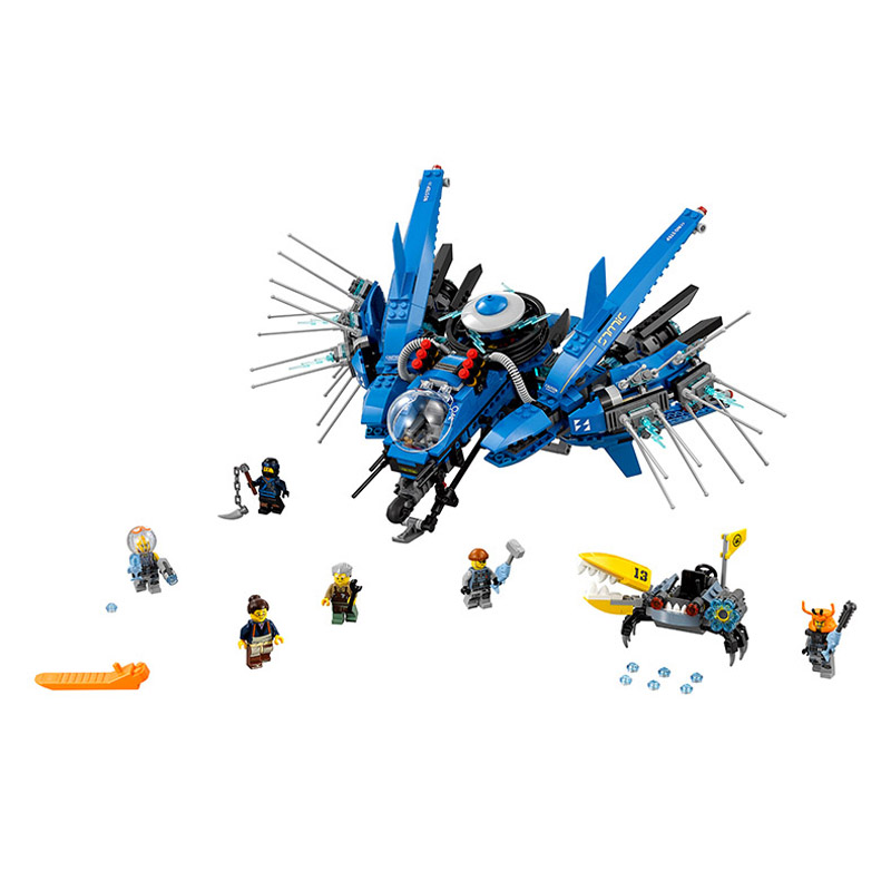 Lepin Pogo Bela 10721 912PCS+ Ninjagoe Lightning Jet Building Blocks Bricks Compatible with Legoe Toys lepin 75821 pogo bela 10505 birds piggy cars escape models building blocks bricks compatible legoe toys