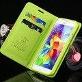 Série bonito cereja luxo pu leather case para samsung galaxy s3 capa para galaxy s3 i9300 estilo carteira suporte função slot para cartão