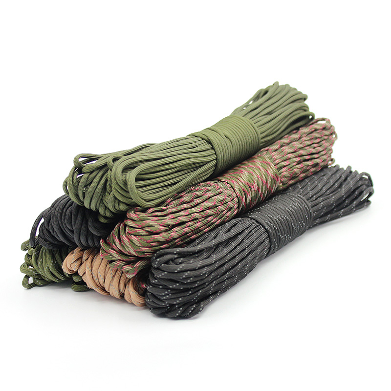 Nylon 4mm 9 stands Parachute Cord Lanyard Rope Climbing Camping Survival Equipment