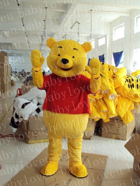 Новый Взрослый Размер Партии Винни Медведь Костюм Талисмана Косплей Бесплатная Доставка