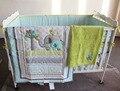 8 Peças conjunto fundamento Do Bebê Bordado 3D elefante pássaro berço cama conjunto inclui colcha saia da cama pára cobertor Equipado