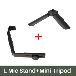 Image 2 - Ulanzi L Mic Stand Met 2 Hot Shoe voor iPhone Zhiyun Glad Q Stabilizer/Feiyu Gimbal/Boya By MM1 microfoon/Video Light Stand