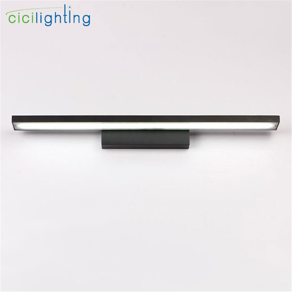 90V - 265V 12W 60cm led mirror lights lamp Black cabinet lights LED Dress mirror bedroom bathroom white make up Modern lamps 90v 265v 12w 37cm led mirror lights lamp modern white cabinet lights led dress mirror bedroom bathroom lighting fixture