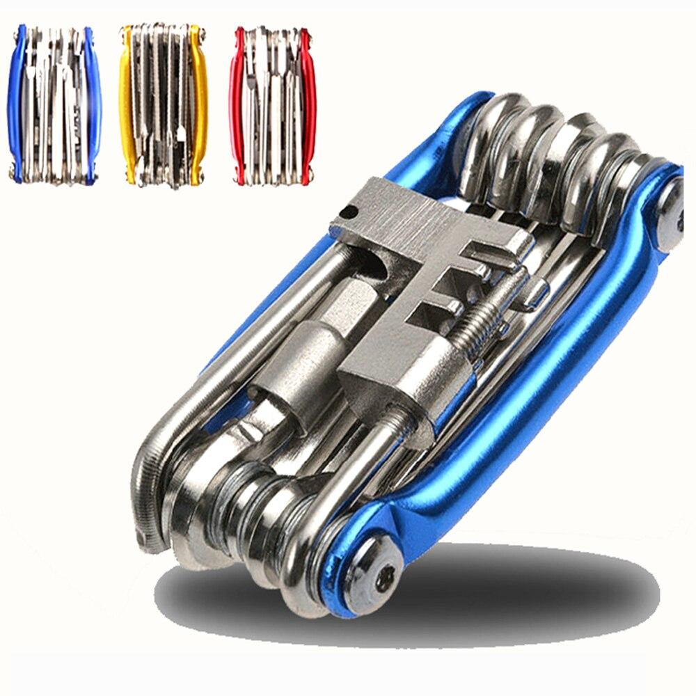 15 In 1 Bike Tools Bicycle Repairing Set Bike Repair Tool Kit Wrench Screwdriver Chain Carbon steel bicycle Multifunction Tool brompton stickers