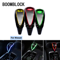 BOOMBLOCK Auto Gear Shift Knob Touch Sensor Colourful LED Light 5/6 Speed For Nissan Qashqai X TRAIL Juke TIIDA Note March