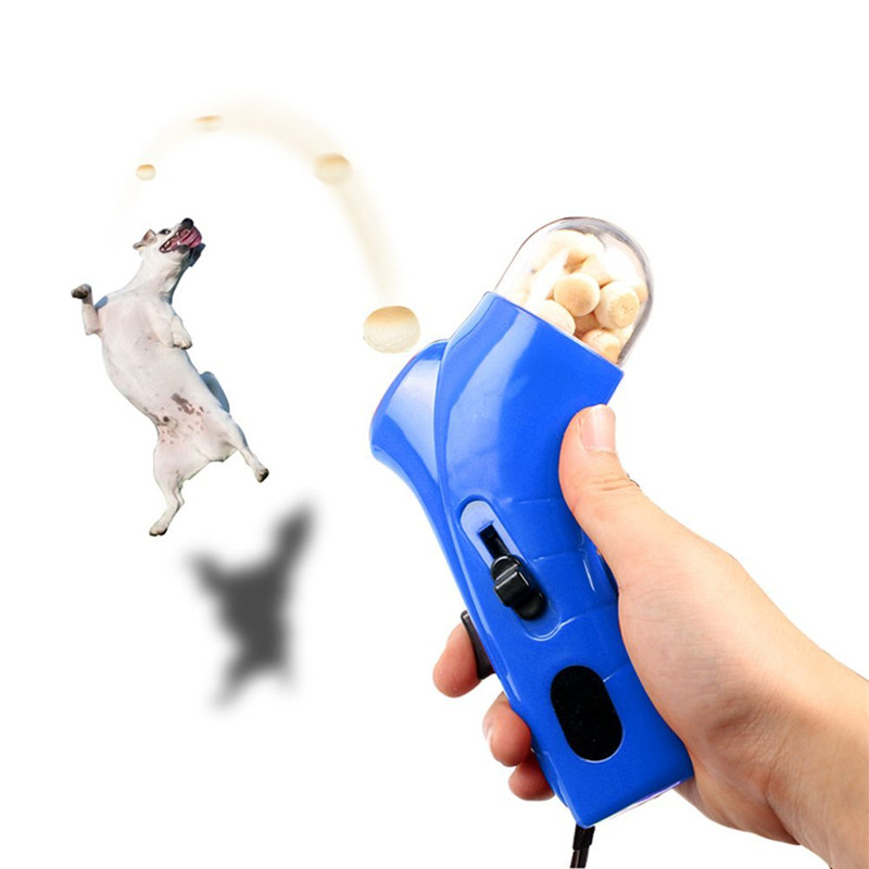Pet Interactive Toy Jump Playing Dog Food Treat Launcher Pet Dog Puppy Snacks Food Catapult Feeder Outdoor Training Accessories
