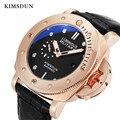 Мужские часы KIMSDUN  спортивные часы с кожаным ремешком  автоматические механические часы