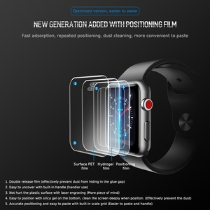 Image 3 - 2pcs For Apple Watch Screen Protector for iWatch 4 3 2 ROCK Hydrogel Full Protective Film For Apple Watch of 38mm 40mm 42mm 44mm