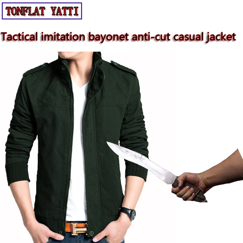 Honest Self Defense Anti-cut Jacket Men Anti Stab Clothing Anti-knife Cut Resistant Outfit Hooded Velvet Stealth Soft Stab Jackets Coat Jackets & Coats