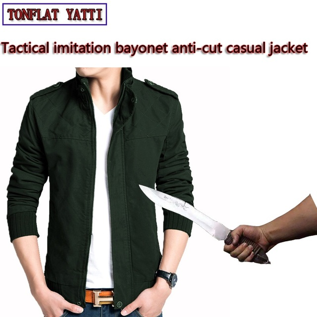 Military Self Defense Stab-resistant Cut-proof Jacket Covert stab FBI Warm Security Police SWAT Tactical outdoor Clothes 2018