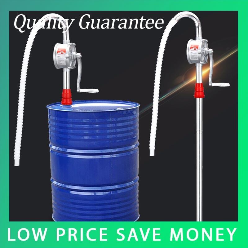 32mm Portable Barrel Rotary Oil Pump Aluminum Alloy Hand Oil Suction Pump