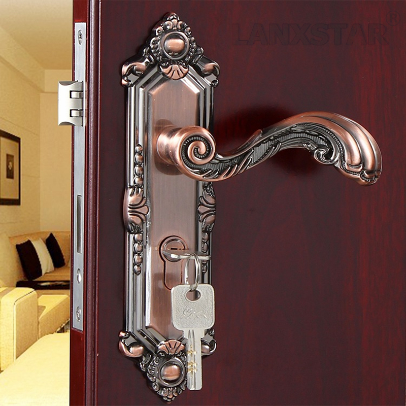 Manufacturers Supply High Quality Zinc Alloy Handle Lock Luxury Room Door Large Lock-body Brass Mute Lockcore Wooden Door Locks manufacturers to supply high quality 100g wild chrysanthemum extract 30 1