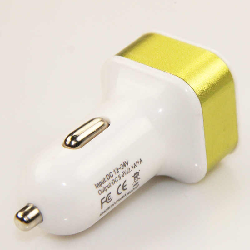 Adaptador de cargador de coche USB de 2 puertos para teléfono inteligente GPS herramientas de carga de vehículos de alta calidad dispositivos alimentados por USB