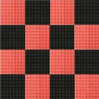 NK DECORATION 16pcs Set Black Red Acoustic Panels Soundproofing Studio Foam Treatment Sound Proofing Sound Insulation
