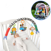 New Arrival Baby Toys Crib Stroller Toy Cute Newborn Hanging Baby Rattle Ring Bell Soft Bed