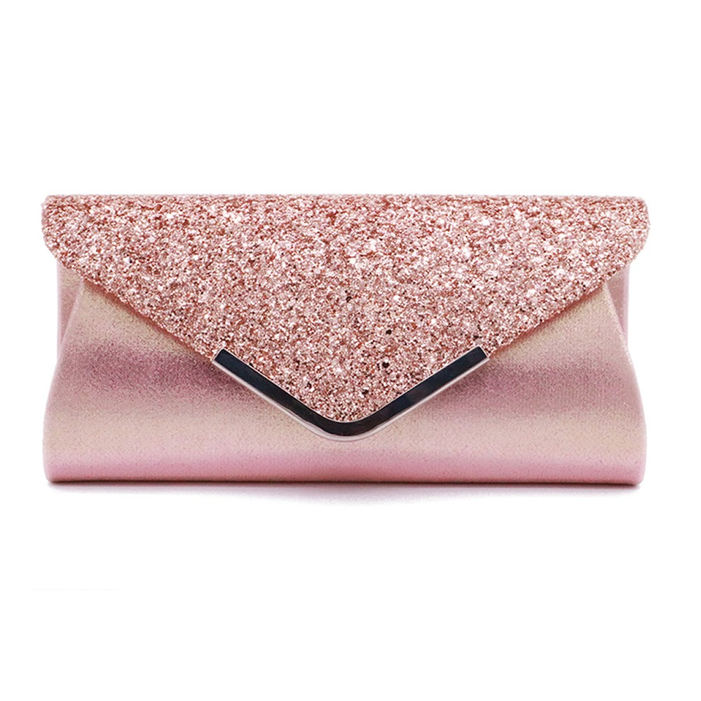 058a3cacb9 Hot Sale] Women Glittered Envelope Clutch Purse Evening Bag Lustrous ...