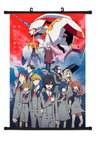 DARLLING in the FRANXX Japanese Anime Home Decor Wall Scroll Poster 40x60CM Gifts