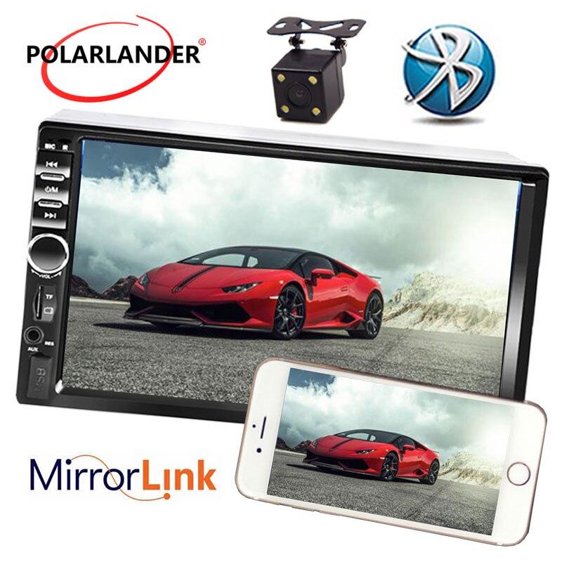 7 pouce USB TF FM AUX Tactile Écran Voiture Stéréo Radio 2 DIN MP5 Lecteur avec Parking Caméra Bluetooth meilleur prix Miroir Lien